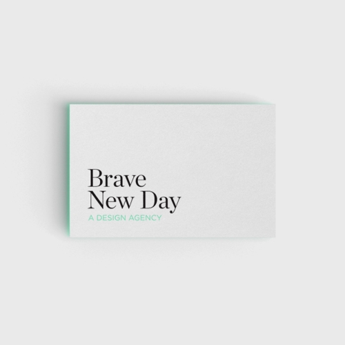 <p>Brave New Day Design Agency Business Card Print Collateral Design</p>