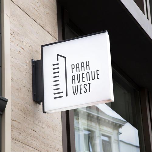 <p>Apartment Building Branding Logo Signage</p>