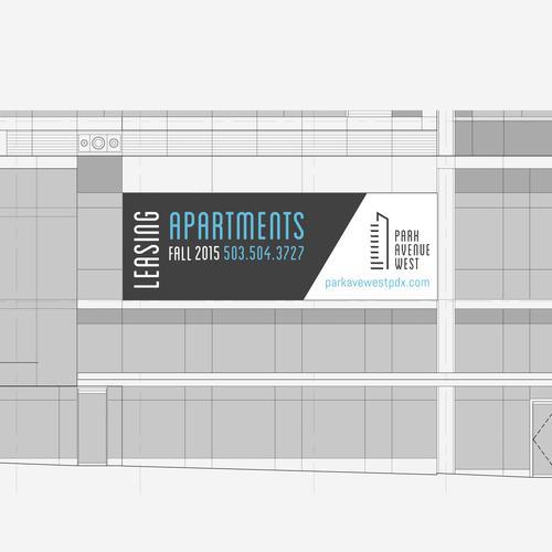 <p>Apartment Building Signage Design</p>
